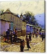 Guatemalan Street Life Canvas Print