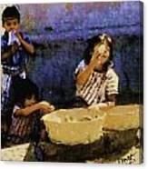 Guatemalan Children Canvas Print