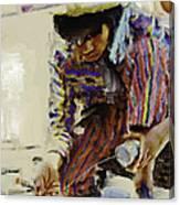 Guatemalan Fisher Boy Canvas Print