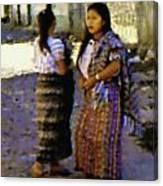 Guatemalan Girls Canvas Print