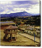 Guatemalan Roof Top Four Canvas Print