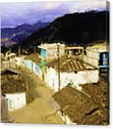 Guatemalan Roof Top Canvas Print