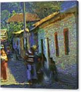 Guatemalan Scene Painter Canvas Print