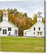 Guildhall Village Historic District In Autumn Vermont Canvas Print