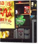 Guiness In The Window Canvas Print