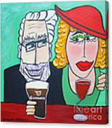Guinness Man With The Woman Of His Dreams Canvas Print