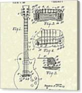 Guitar 1955 Patent Art Canvas Print