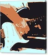 Guitar And Man Canvas Print