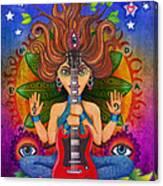 Guitar Goddess Canvas Print