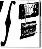 Guitar Graphic In Black And White  Canvas Print