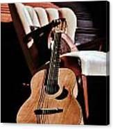 Guitar In Sunlight Canvas Print