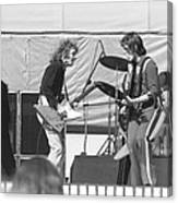 Guitar Interplay At The Day On The Green 6-6-76 Canvas Print