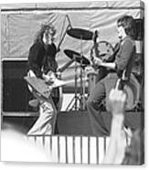 Guitar Jam At Day On The Green In Oakland 1976 Canvas Print