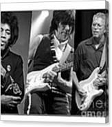 Guitar Legends Jimi Hendrix Jeff Beck And Eric Clapton Canvas Print