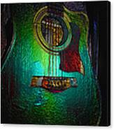 Guitar Metalica Canvas Print