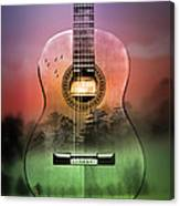 Guitar Nature  Canvas Print