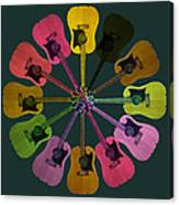 Guitar O Clock Canvas Print
