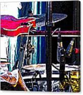 10261 Seasick Steve's Guitar On Drum Canvas Print