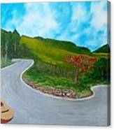 Guitar on the Road Canvas Print