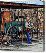 Guitar Playin Cowboy Canvas Print