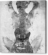 Guitar Siren In Black And White Canvas Print