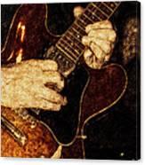Guitar Tinted Copper Canvas Print