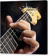 Guitarist Playing Guitar Canvas Print