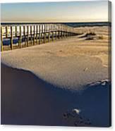 Boardwalk To The Gulf  Canvas Print