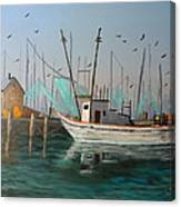 Gulf Shrimpers Canvas Print