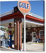 Gulf Station Sign Canvas Print