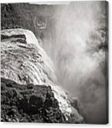 Gullfoss Iceland In Black And White Canvas Print