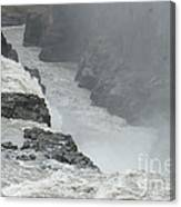 Gullfoss Waterfall Iceland Canvas Print