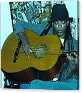 Gully Guitar And Black Hat  Canvas Print