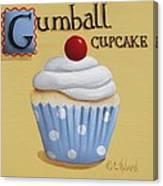 Gumball Cupcake Canvas Print