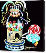 Gumball Machine And The Lollipops Canvas Print