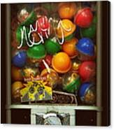 Series - Gumball Silver Bars With Graffiti - Iconic New York City Canvas Print