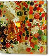 Gumdrops N Ginger Bread  Canvas Print