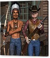 Gunfight At The Okey Dokey Corral Canvas Print