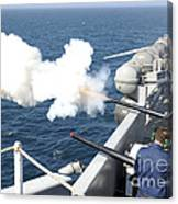 Gunners Mates Test Fire The Ships Canvas Print