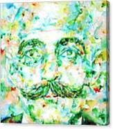 Gurdjieff- Watercolor Portrait Canvas Print