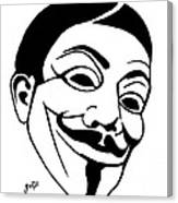 Guy Fawkes Face Original Pop Art Painting Canvas Print