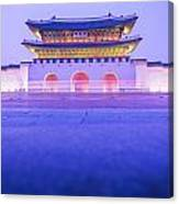 Gyeongbokgung Palace In Seoul South Korea Canvas Print