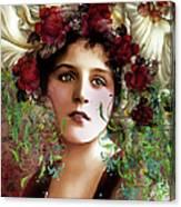 Gypsy Girl Of Autumn Vintage Canvas Print