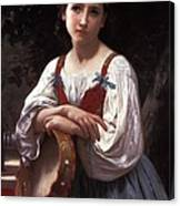 Gypsy Girl With A Basque Drum Canvas Print