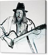 Gypsy Guitarist Canvas Print