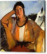 Gypsy With A Cigarette Canvas Print