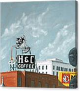 H And C Coffee Canvas Print