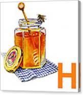 H Art Alphabet For Kids Room Canvas Print