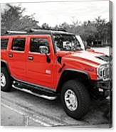 Red Hummer H2 Series  Canvas Print