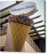 Haagen Dazs Ice Cream Signage Downtown Disneyland 01 Canvas Print